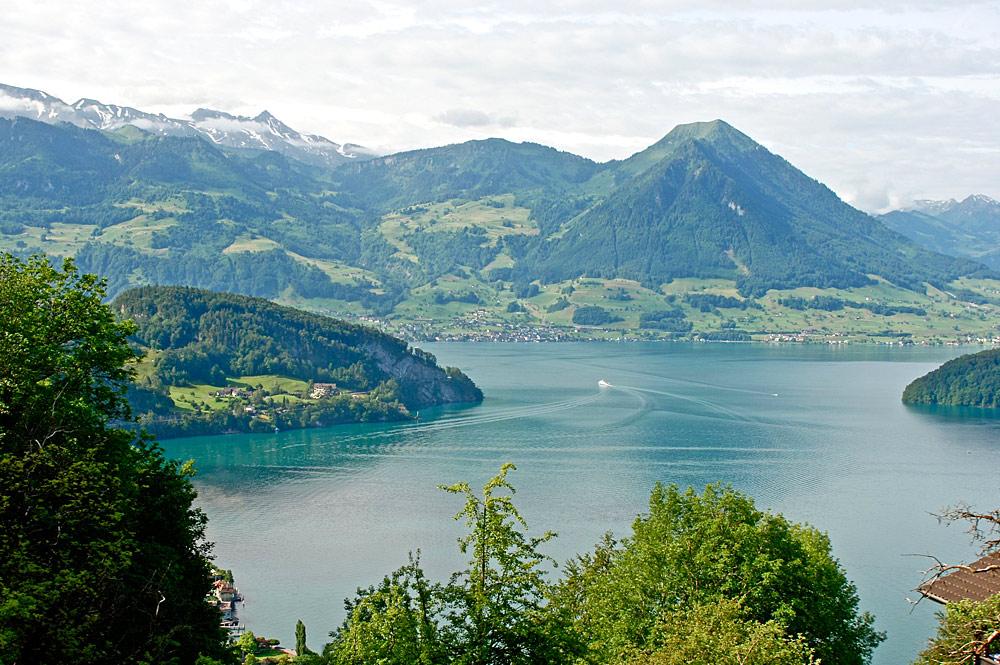 Panorablick aus der Rigibahn