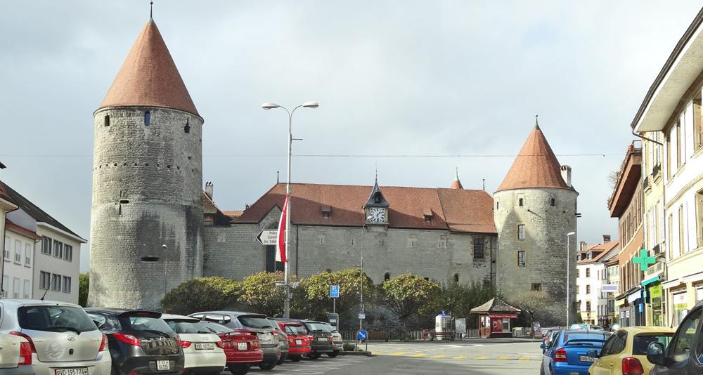 Das Schloss von Yverdon-les-Bains