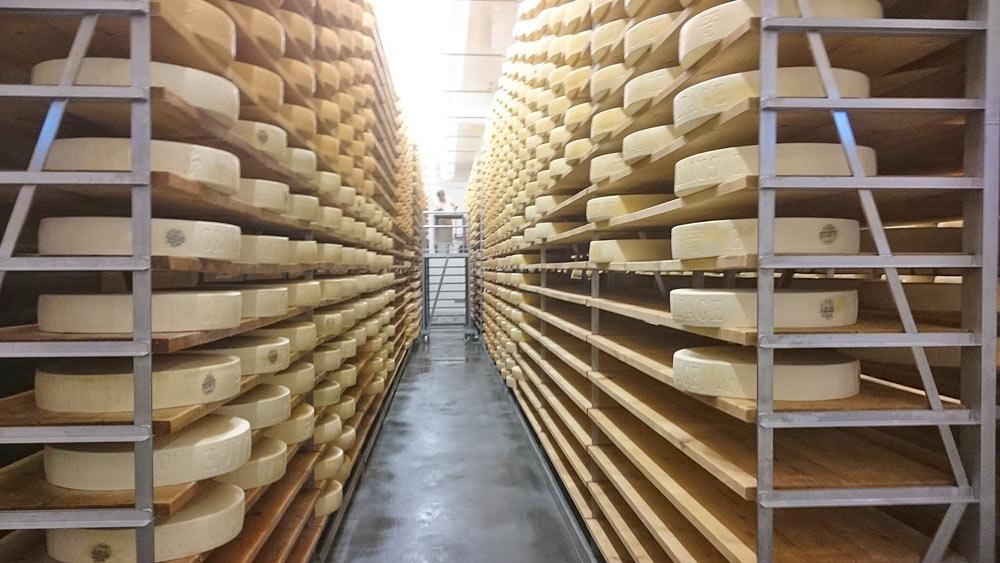 Blick in eine Käsere in Val-de-Charmey