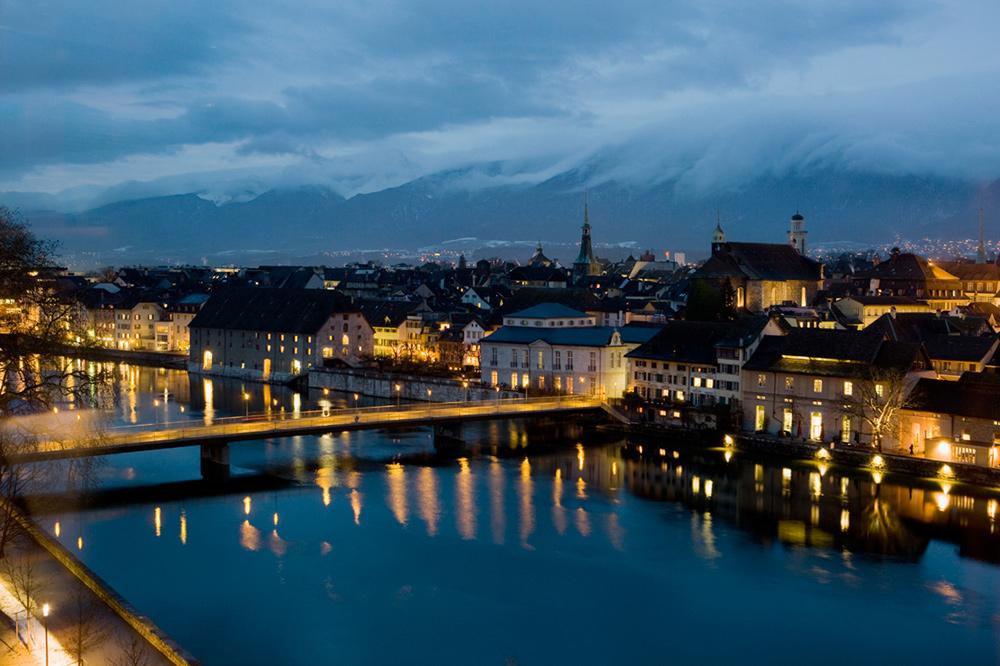 Solothurn in der Abenddämmerung