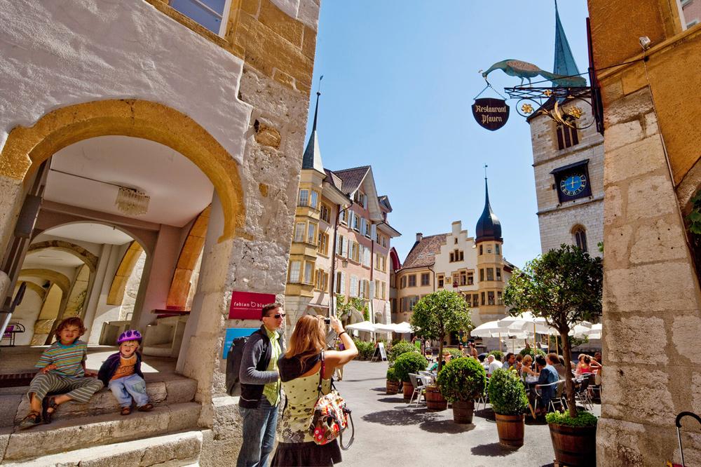 Blick in die Altstadt von Biel