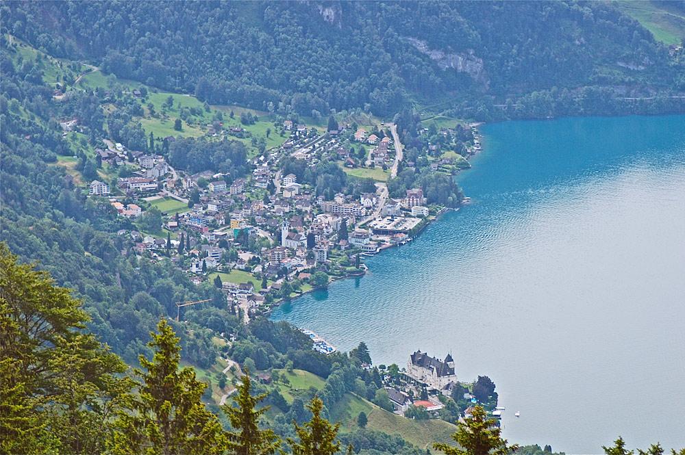 Luftaufnahme von Weggis