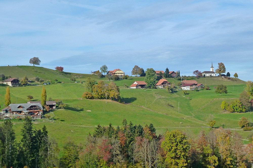 Gehöfte in der Gemeinde Rüschegg