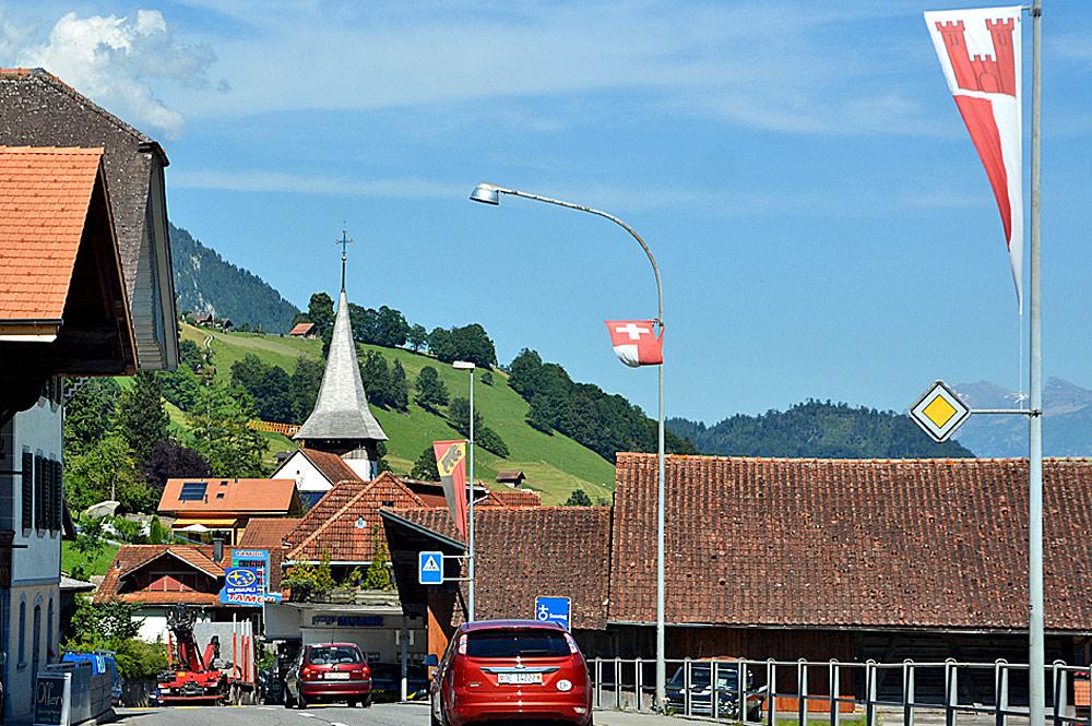 Ortskern von Erlenbach im Simmental