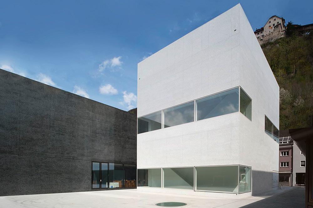 Außenansicht des Kunstmuseums Liechtenstein in Vaduz