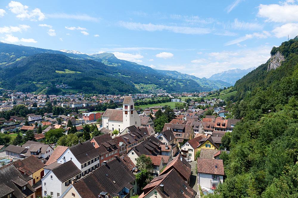 Blick über Vaduz