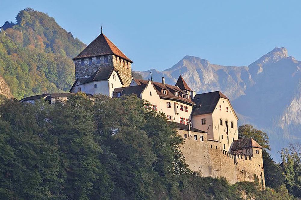 Außenansicht von Schloss Vaduz