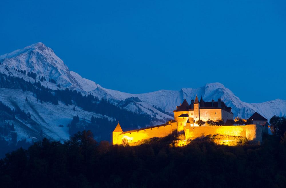 Blick auf das Schloss Greyerz