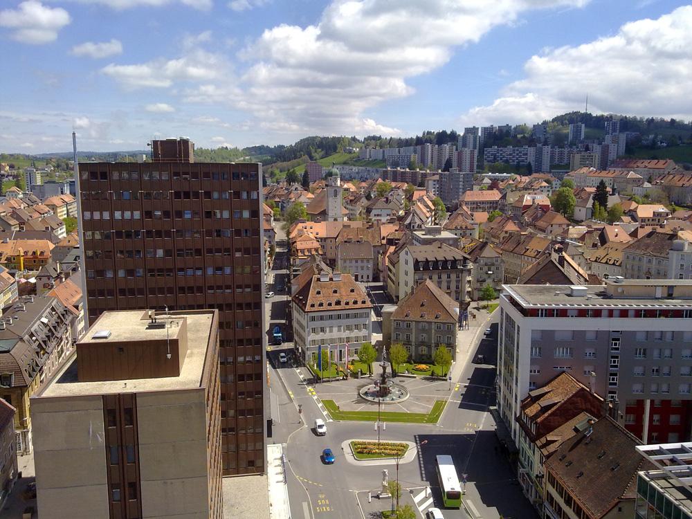 Blick auf Le Chaux-de-Fonds