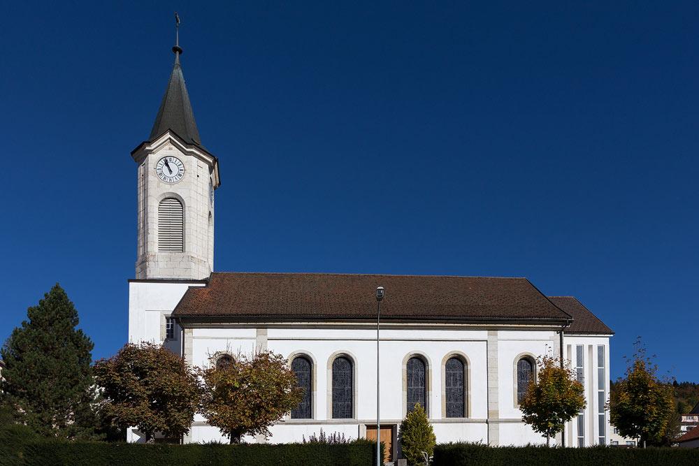 Reformierte Kirche von Tramelan im Berner Jura