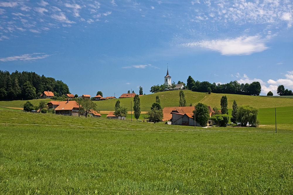 Blick auf Schwarzenburg-Wahlern