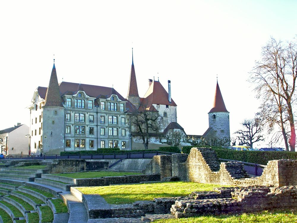 Blick auf die Altstadt von Avenches