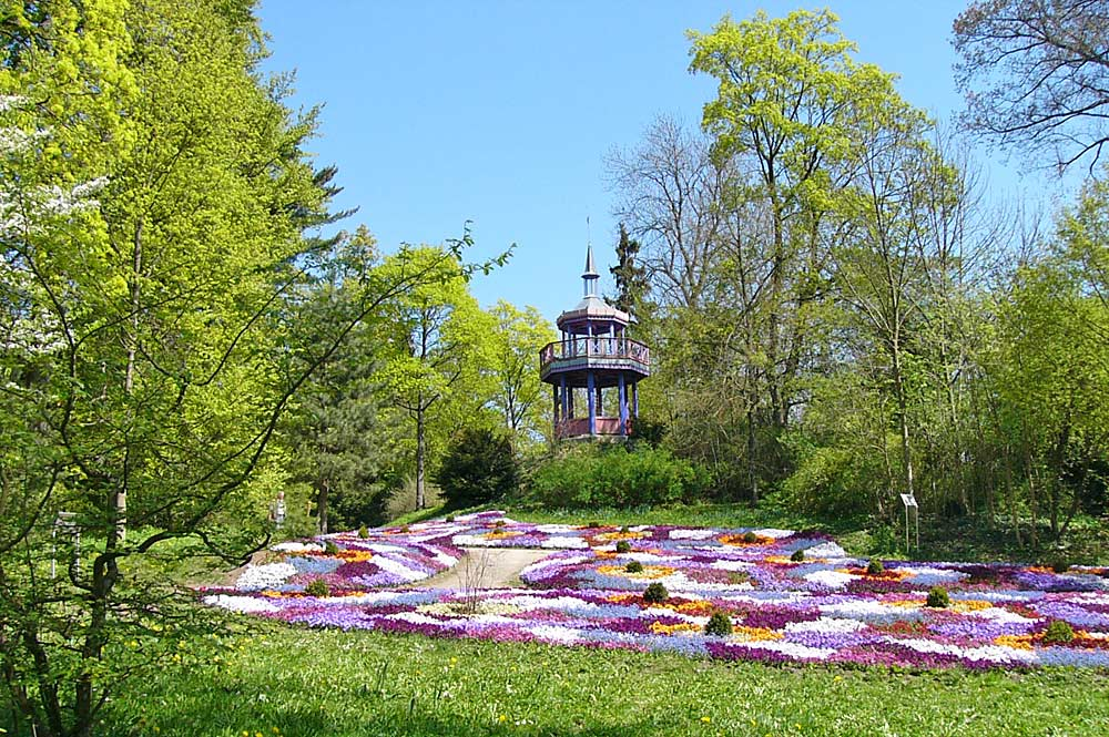 Pavillon an der Thomashöhe im Bürgerpark Theresienstein in Hof