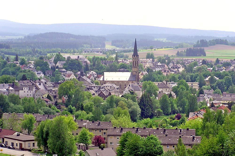 Blick vom Rohrbühl auf Münchberg