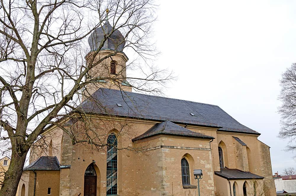 Die evangelische Stadtpfarrkirche St. Jobst in Rehau