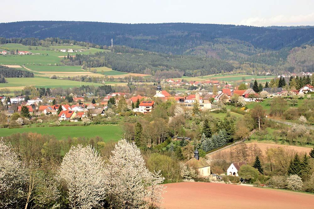 Blick auf Weidenberg