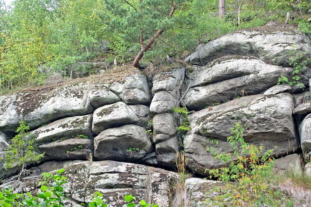 Wollsack-Felsen im Naturschutzgebiet Egertal bei Hohenberg an der Eger