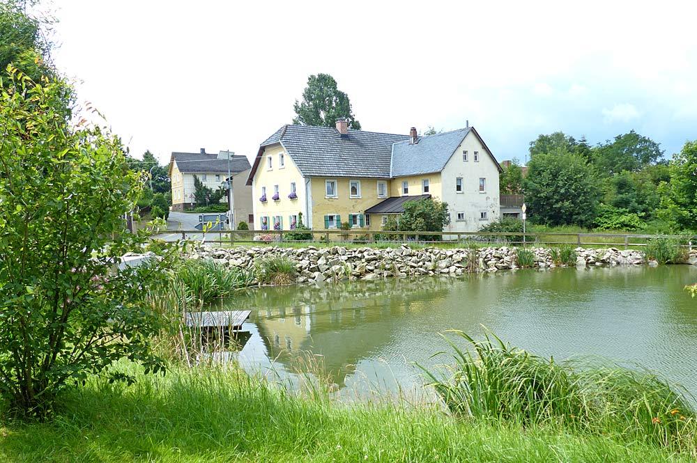 Blick auf Fleisnitz in Stammbach