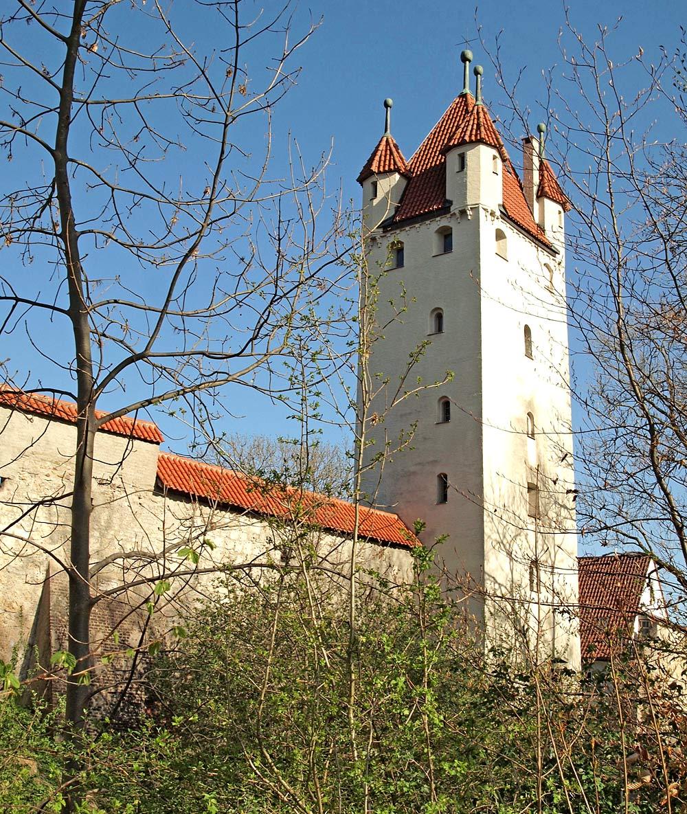 Stadtmauer und Fünfknopfturm in Kaufbeuren