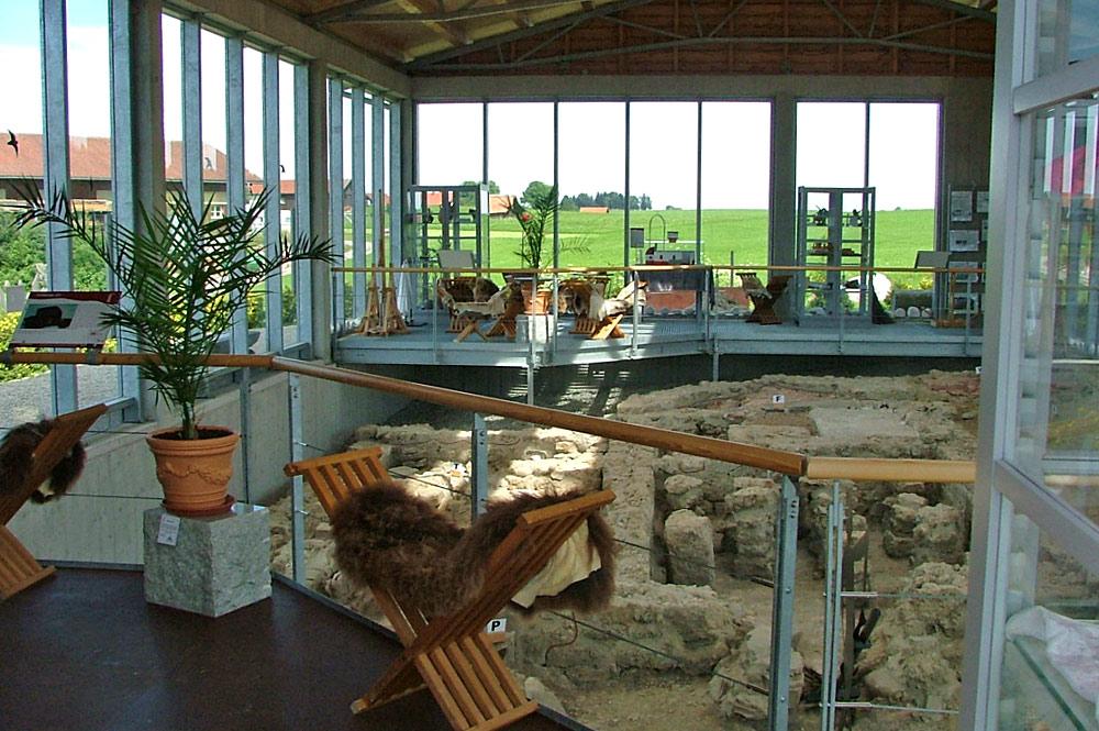 Ausgrabungsstätte Römerbad in der Villa Rustica in Marktoberdorf