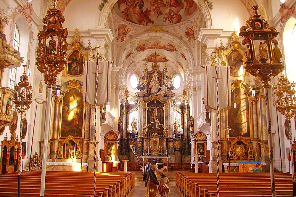 Langhaus der Kirche St. Martin in Marktoberdorf