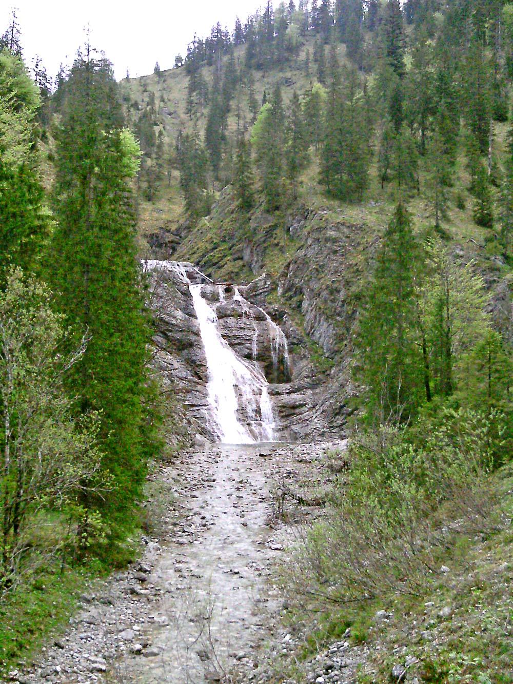 Wasserfall am Wasserfall-Weg bei Jachenau