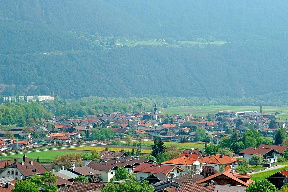 Ortsansicht von Oberhofen im Inntal