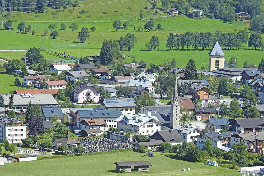Blick vom Geigenberg auf Maishofen