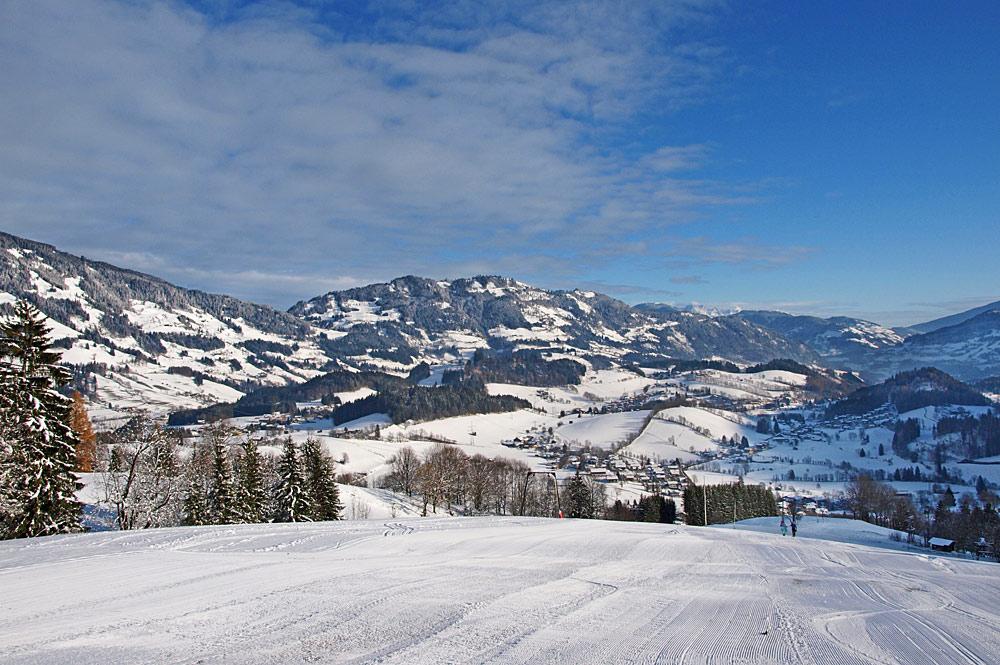 Piste im Skigebiet Goldegg