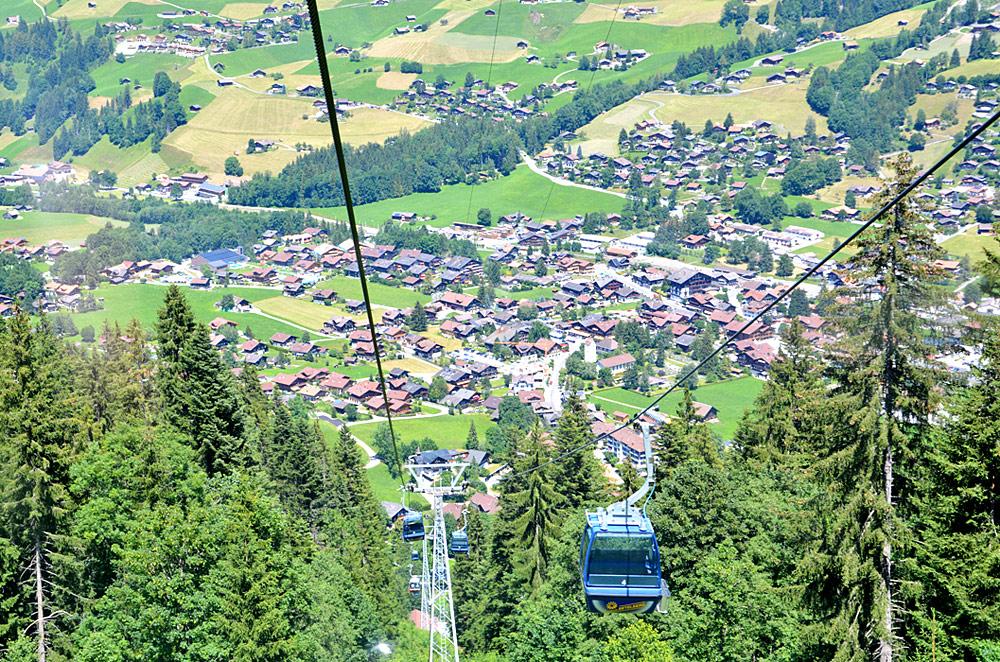 Luftaufnahme von Lenk aus der Betelberg-Bahn
