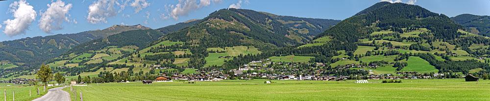 Panoramaaufnahme von Piesendorf