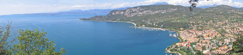 Blick auf die Bucht von Garda