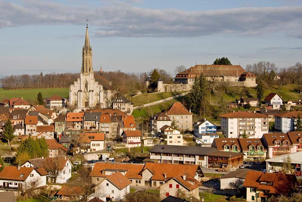 Blick auf Châtel-St-Denis