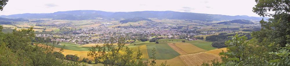 Blick auf Delsberg