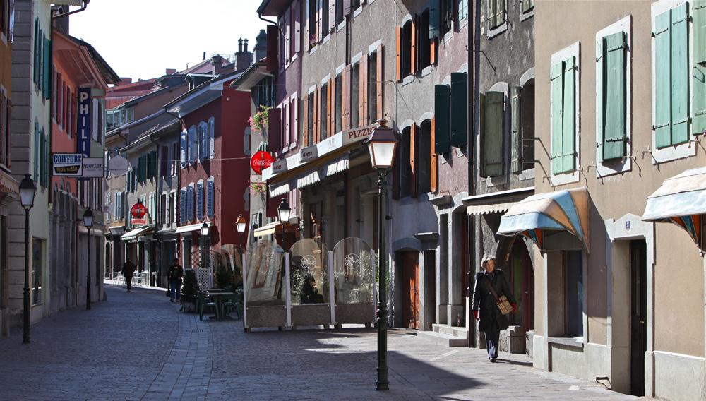 Rue du Bourg in Aigle
