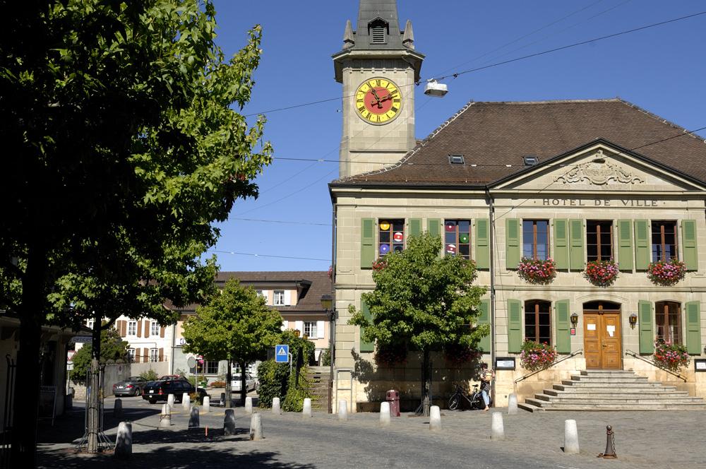 Das Rathaus von Echallens