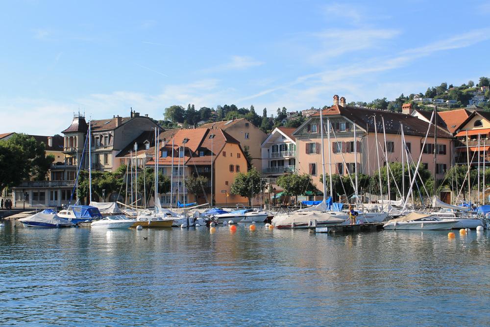 Hafen von Lutry am Genfersee