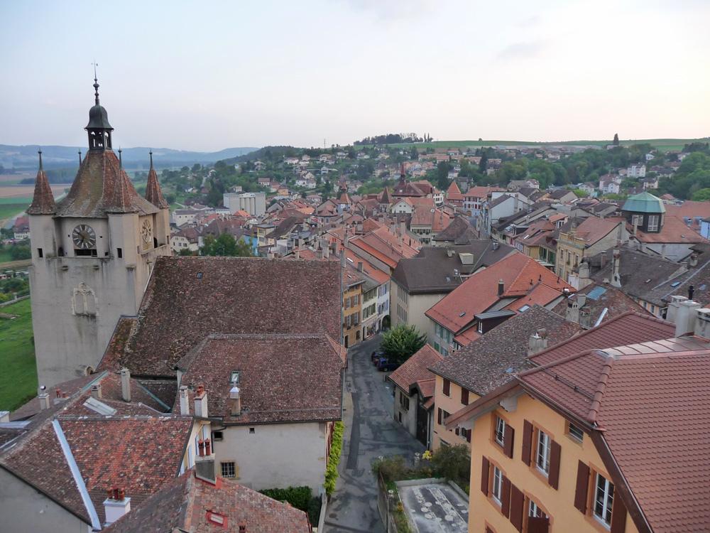 Blick auf die Altstadt von Orbe