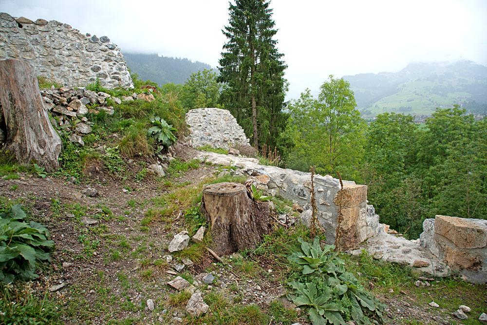 Burgruine am Unteren Mannenberg bei Zweisimmen