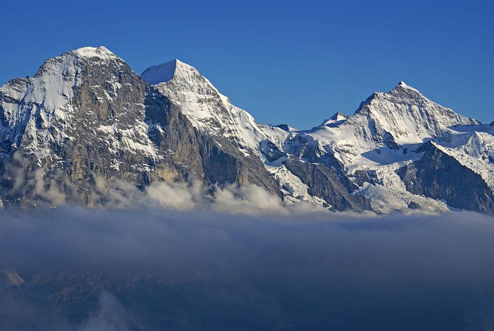 Panorama von Eiger, Mönch und Jungfrau