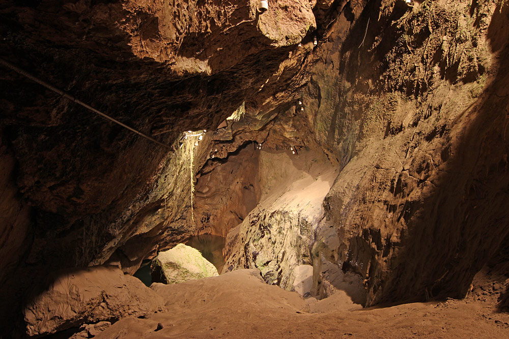 Blick in die Sturmannshöhle in Obermaiselstein