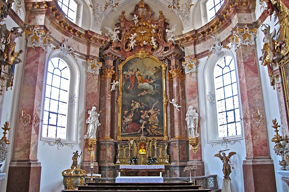 Innenansicht der Anastasiakapelle des Klosters Benediktbeuern