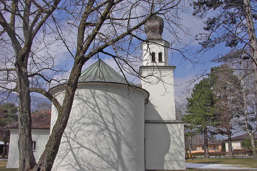 Außenansicht der Mariahilfkapelle in Balzers