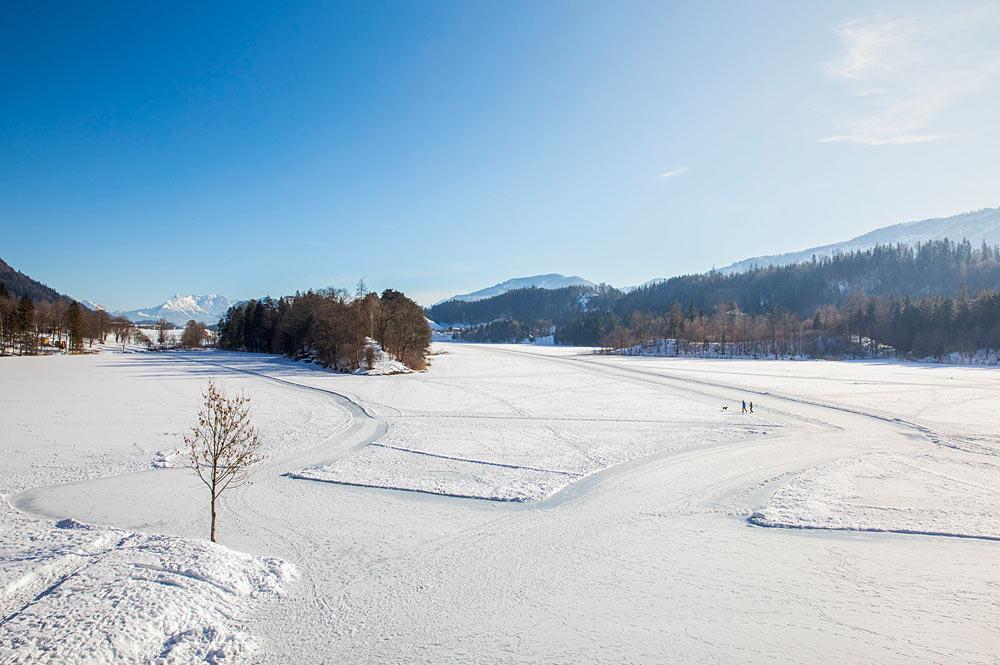 Winterwanderweg am Reintalersee bei Kramsach