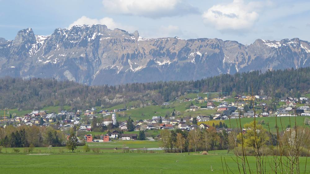 Blick auf Mauren und den Alpstein