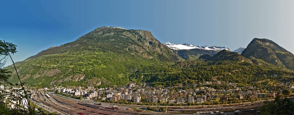 Panorama von Naters
