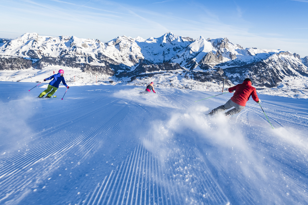 Skifahrer in Toggenburg