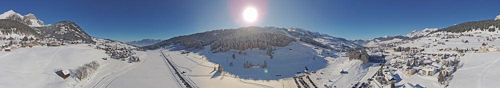Blick auf das Skigebiet Wildhaus