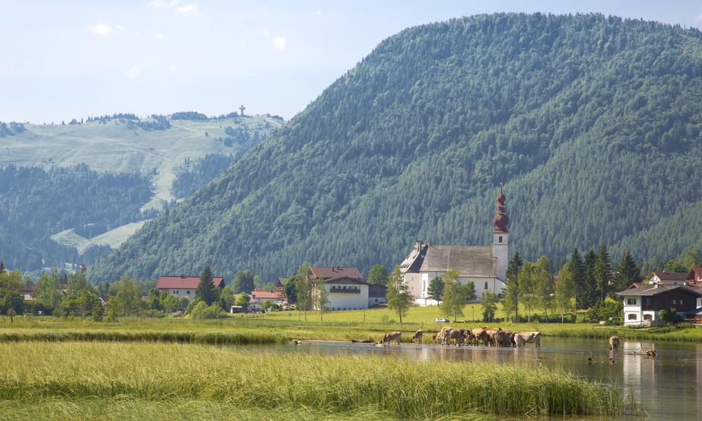 Blick auf St. Ulrich am Pillersee