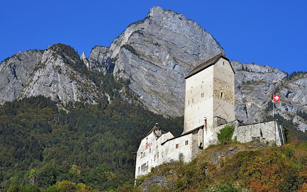 Blick auf das Schloss Sargans